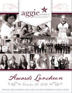 Aggie Women Awards Luncheon Program