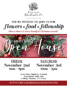 Tricia Barksdale Designs Open House Flyer