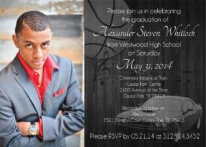 Graduation Custom Invitation (info edited for privacy)