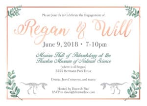 Engagement Party Custom Invitation (info edited for privacy)