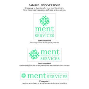 Ment Logo with Alternate Versions