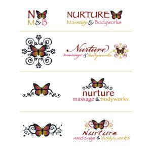 Nurture Massage & Bodyworks Logo Drafts