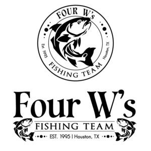 Four W's Fishing Team Custom Logos - 2 versions for different uses