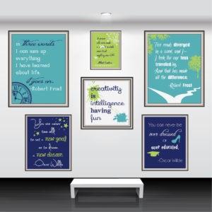 Custom Creativity Posters: Wall Collage Mockup