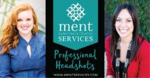 Ment Marketing & Creative Services Headshots Advertisement