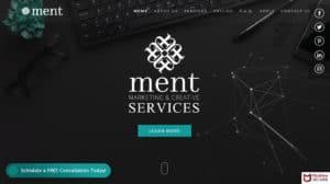 Ment Marketing & Creative Services Website