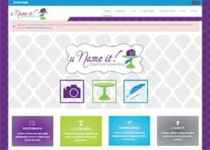 U Name It! Creative Services Website